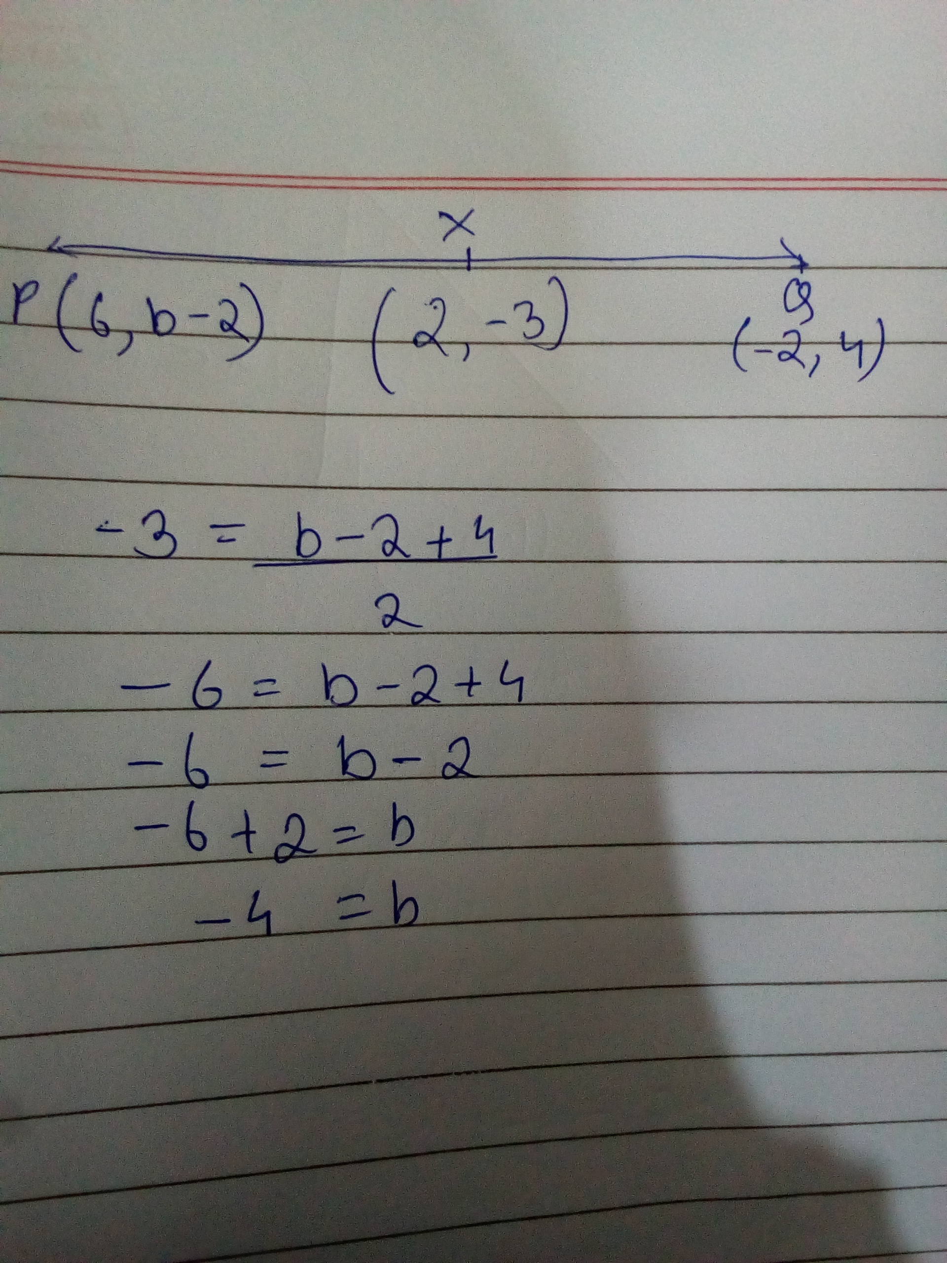 Mid Point of a Line Segment Joining Two Points