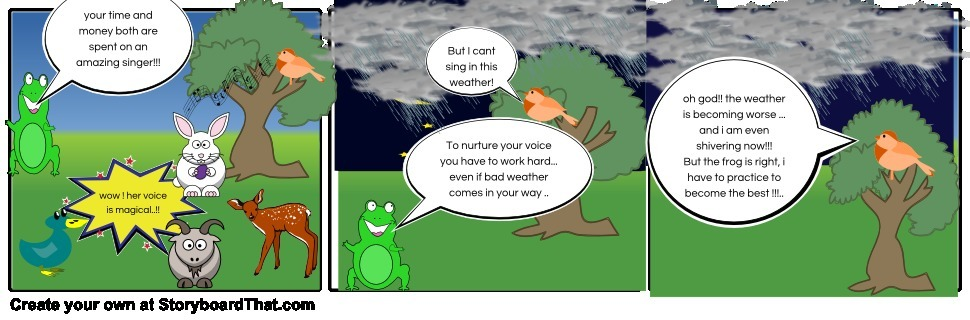 Comic Creation Of Class 10th English Poem The Frog And The Nightingale 50 Points