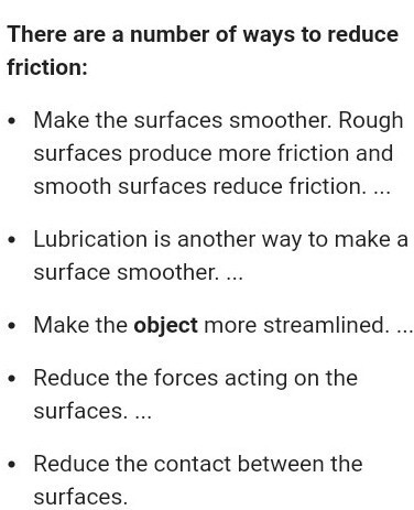 Identify the methods in reducing energy waste by friction - Brainly in