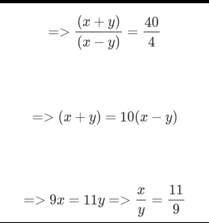 The sum of two number is 40 and there difference of two