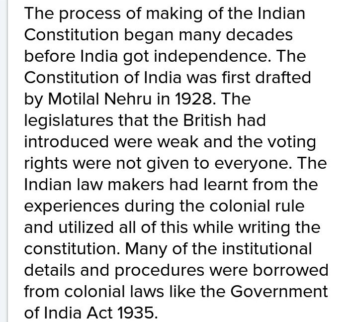 Write a brief note on making of the indian constitution