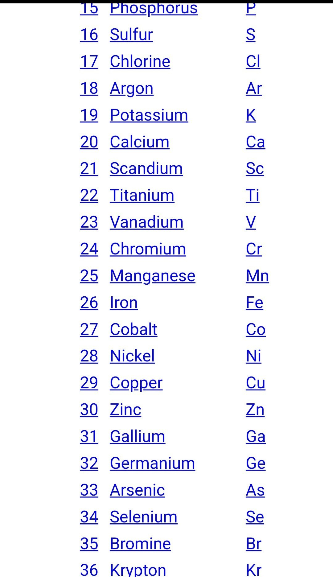 Find Out The First 30 Elements In The Periodic Table