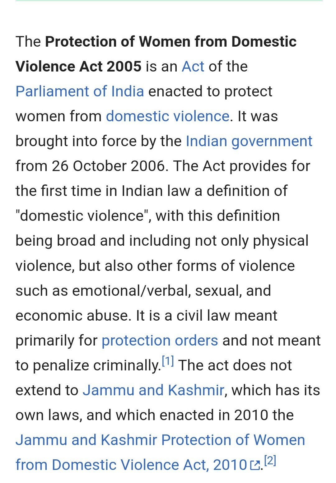 the protection of women from domestic violence act, 2005 (summary
