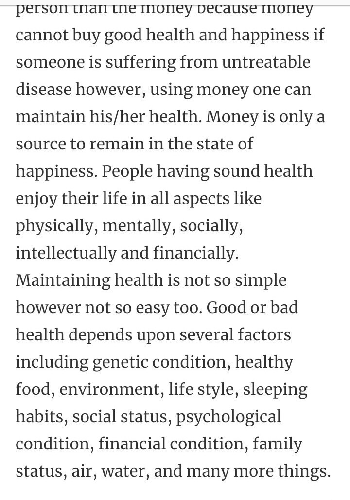 paragraph on health is wealth for class   brainlyin