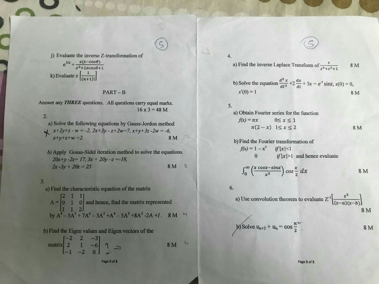 how to solve matrices problems
