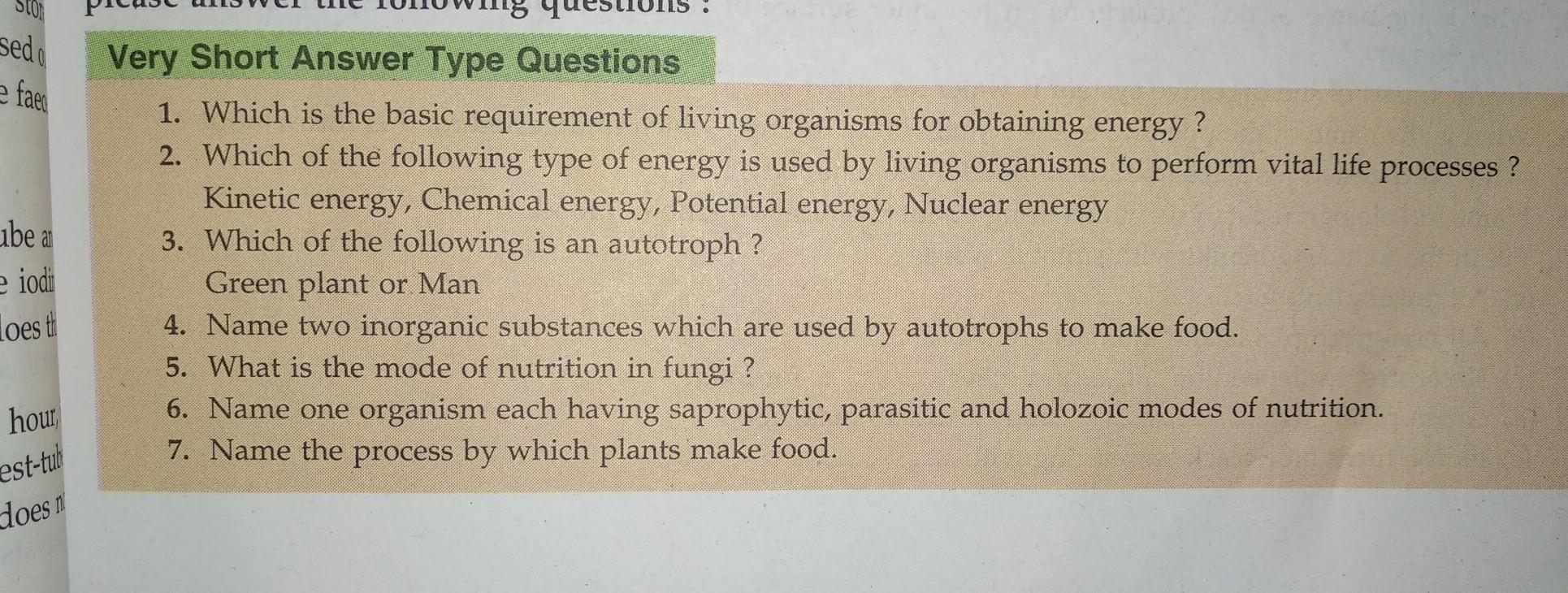 please 1 to 7 questions answered karna hai sab ka answer copy par