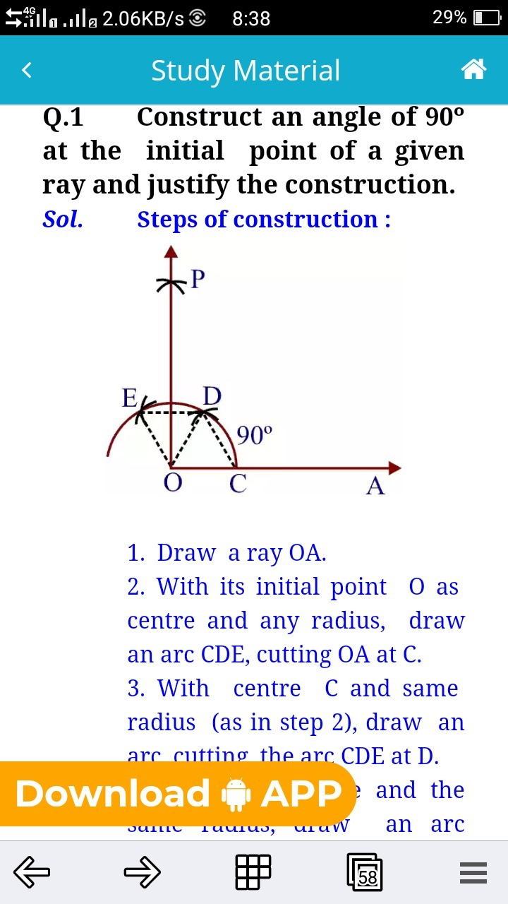 Justification Construction 90 Degree Angle Brainlyin