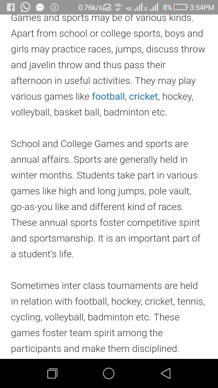 importance of games and sports in life