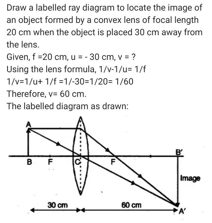 Draw A Labelled Ray Diagram To Locate The Image Of An Object Formed
