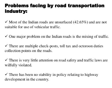 What are the problem faced by a indian roadways - Brainly in