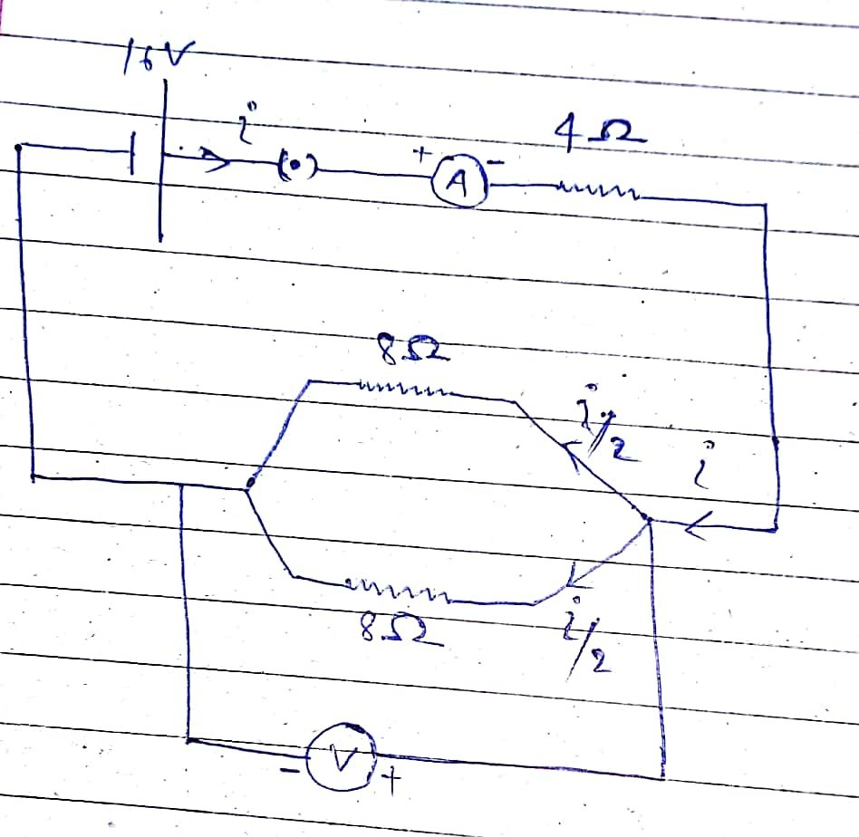 Draw A Circuit Diagram Of An Electric Containing Cell Resistors In Series And Parallel Until The Is Download