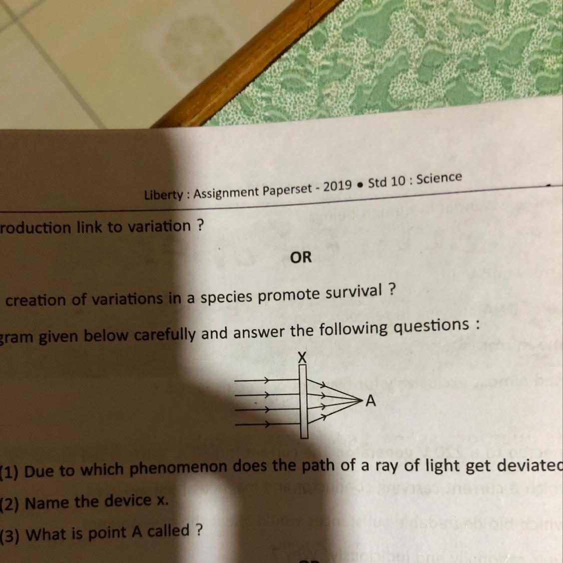 32  Study The Diagram Given Below Carefully And Answer The Following Question Questions   1  Due