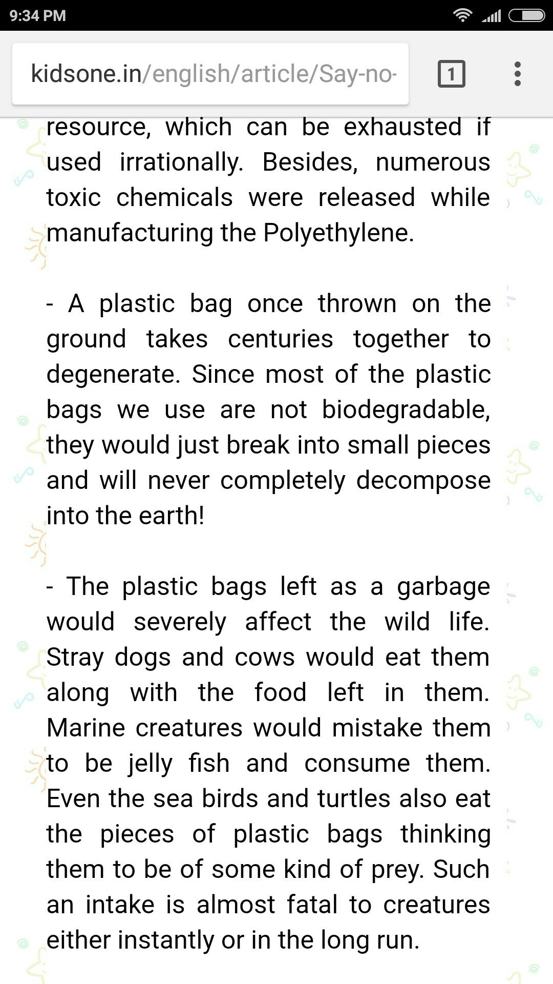 say no to plastic bags essay in english