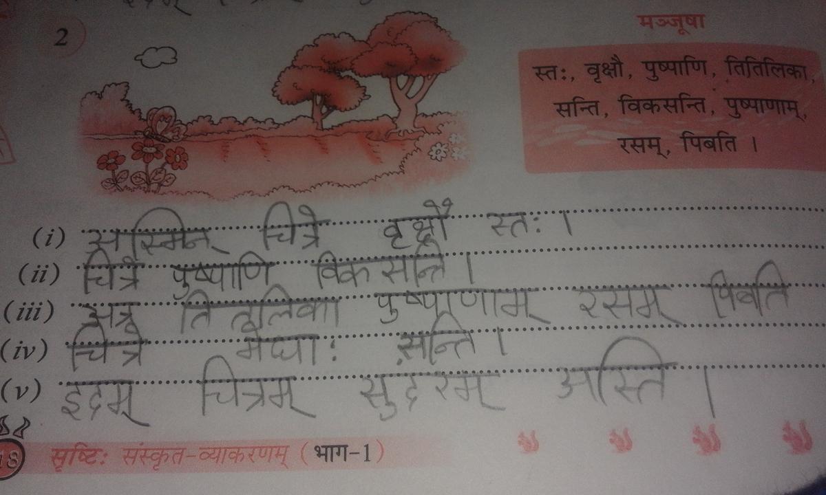 sanskrit essay on trees