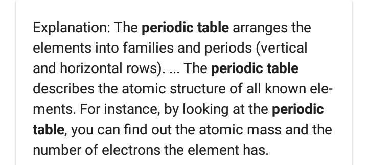 What Is Periodic Table And How It Helps Us Brainly