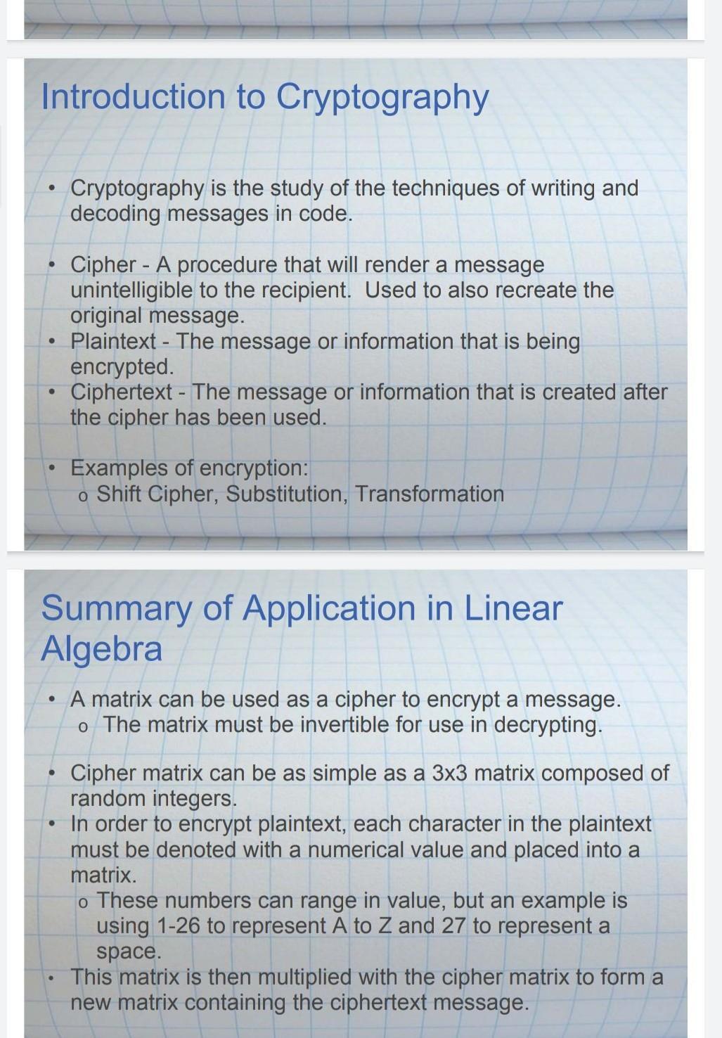 Encode the message 'SATEESH' using linear algebra ...