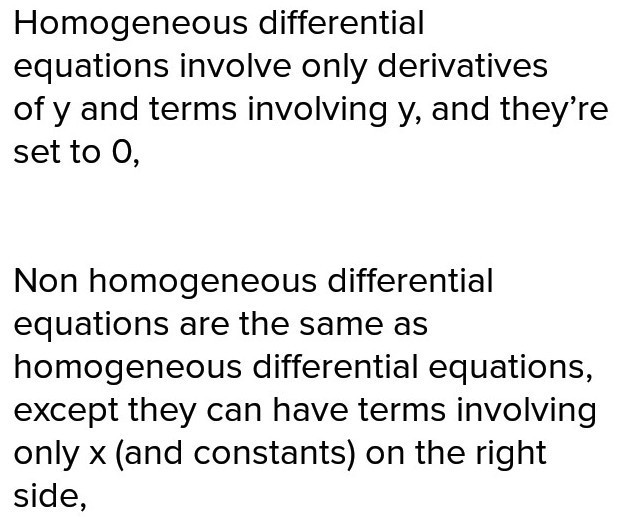 Difference between homogeneous and nonhomogeneous linear
