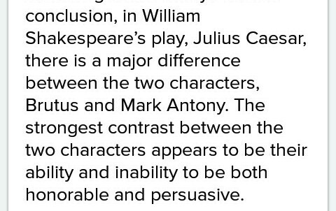 mark antony julius caesar personality