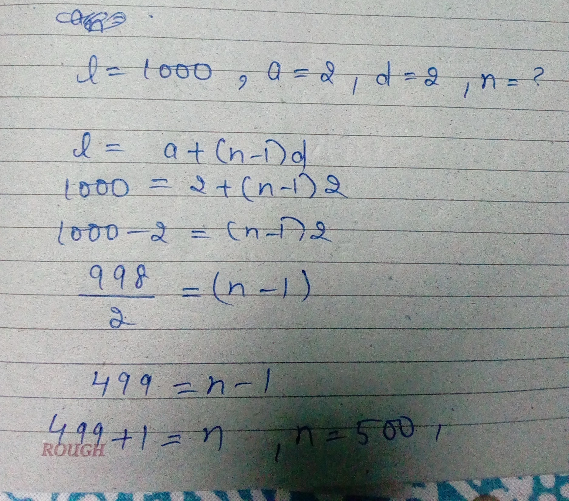How many even numbers are there between 1 and 1000? - Brainly.in