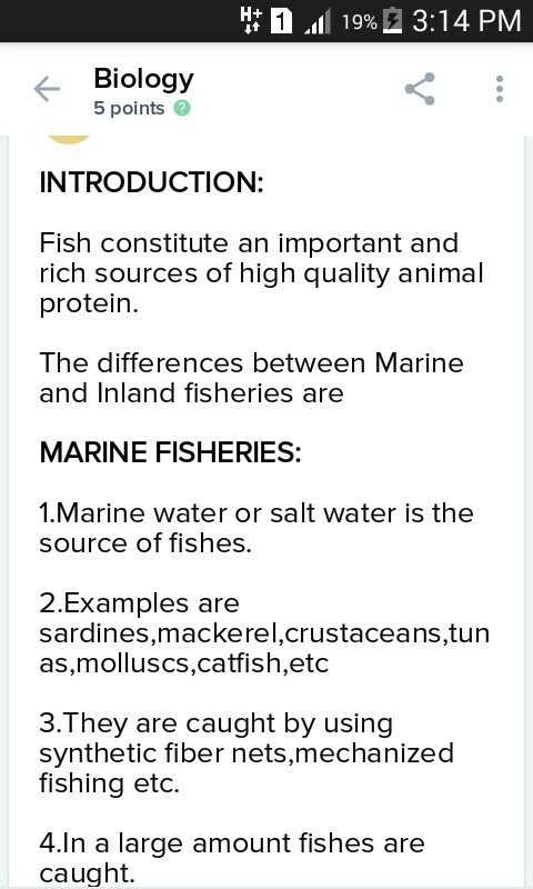 Describe The Marine Fisheries Brainly In