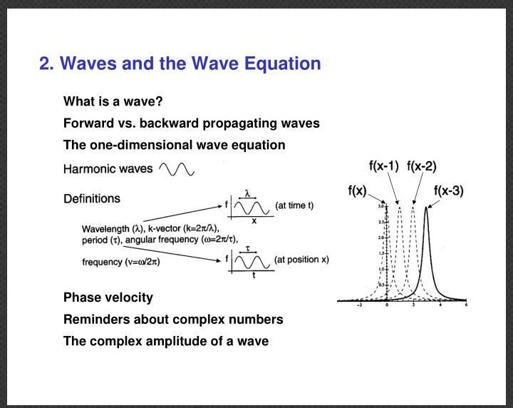 Two by two wave equation answer for reversing velocity - Brainly in