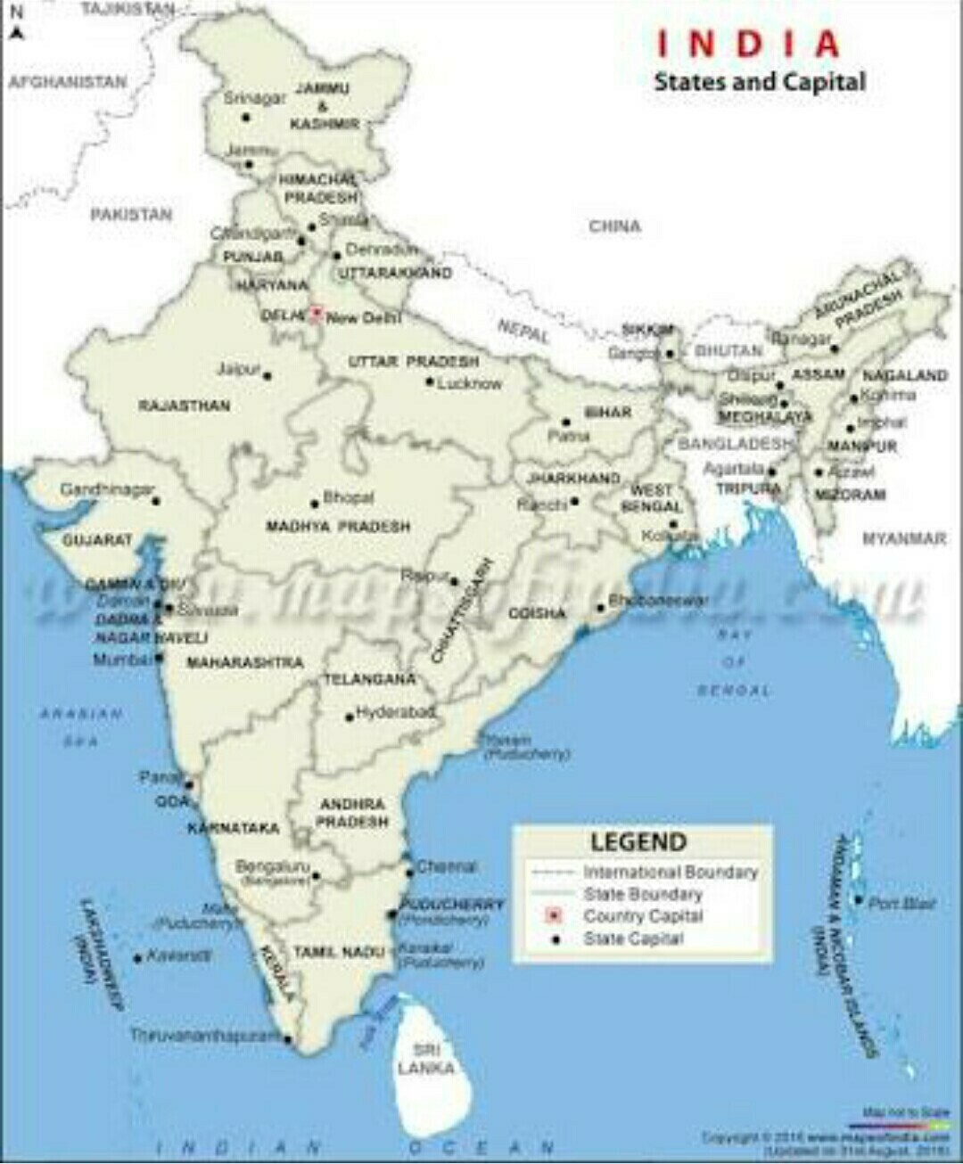 maps of states & capitals of India - Brainly.in