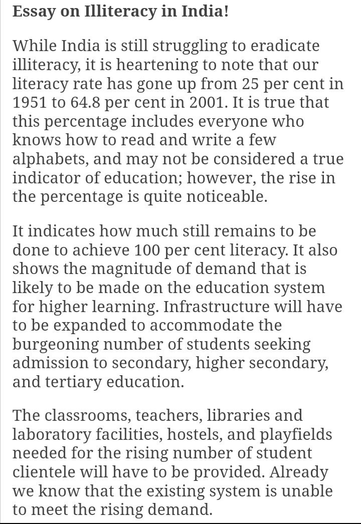 literacy and illiteracy in uae essay Short essay on illiteracy in india and its this national duty so that the literacy drive may come to on illiteracy short essay on.