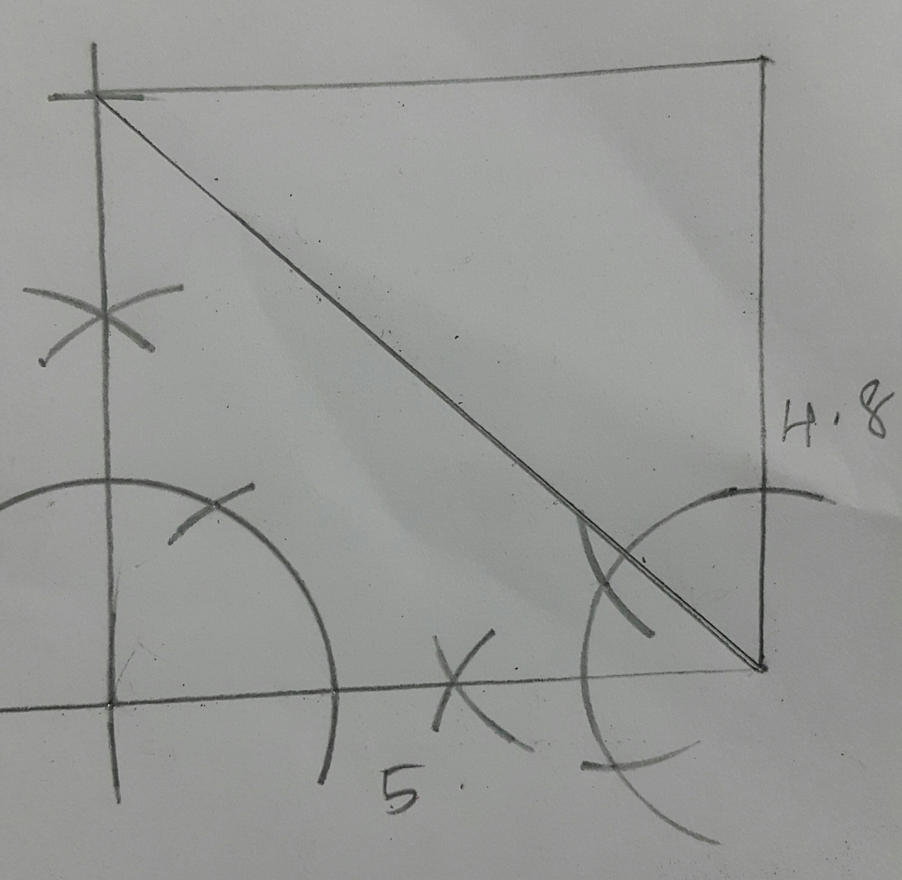 Construct A Rectangle Such That One Side Is 5cm And One Diagonal Is