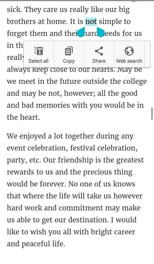 Farewell speech for seniors - Brainly in