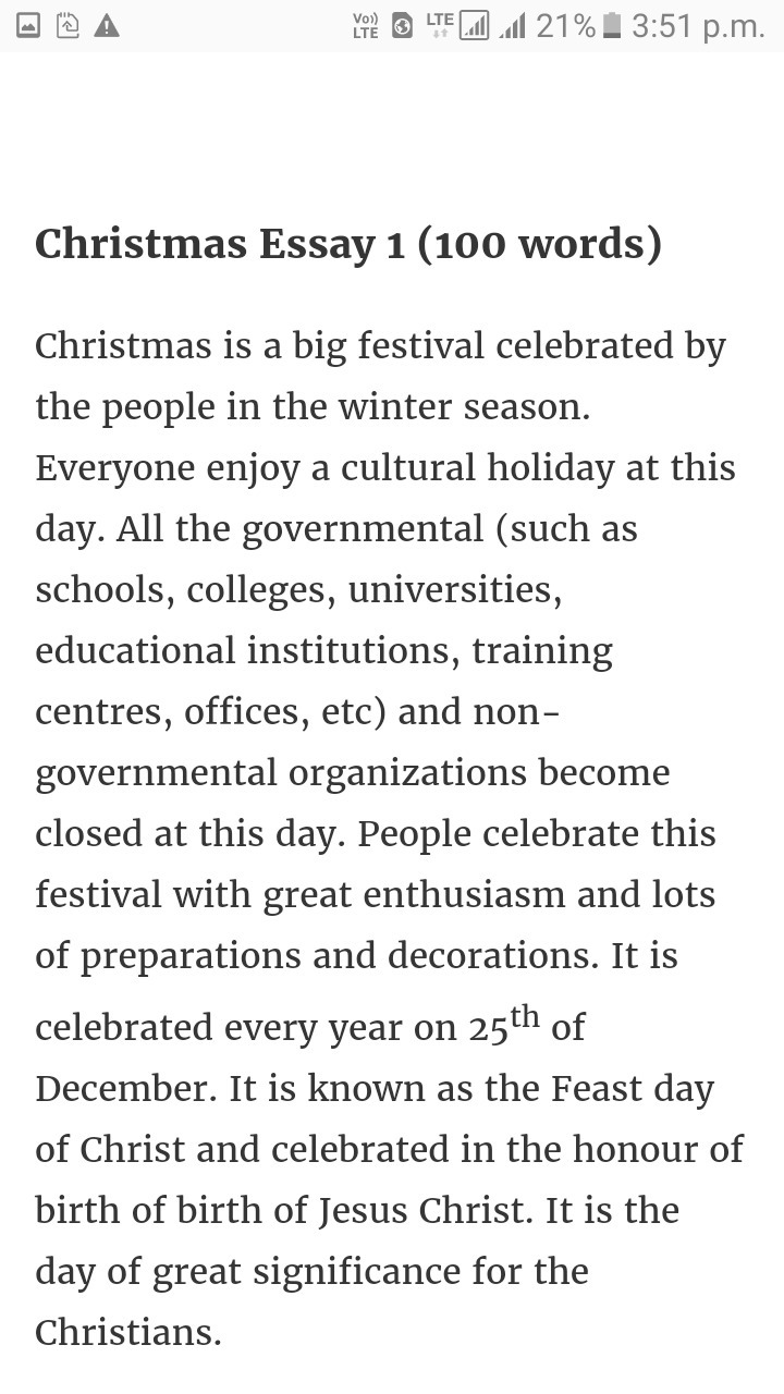 Essay On Christmas Eve In English  Brainlyin Download Jpg