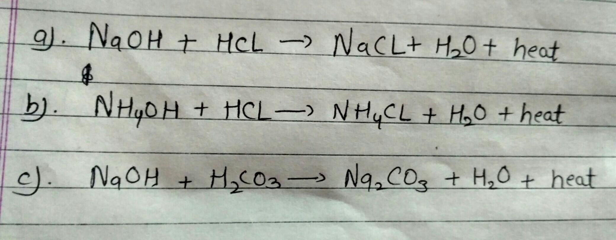 fill up the neutralization reaction  - Brainly in
