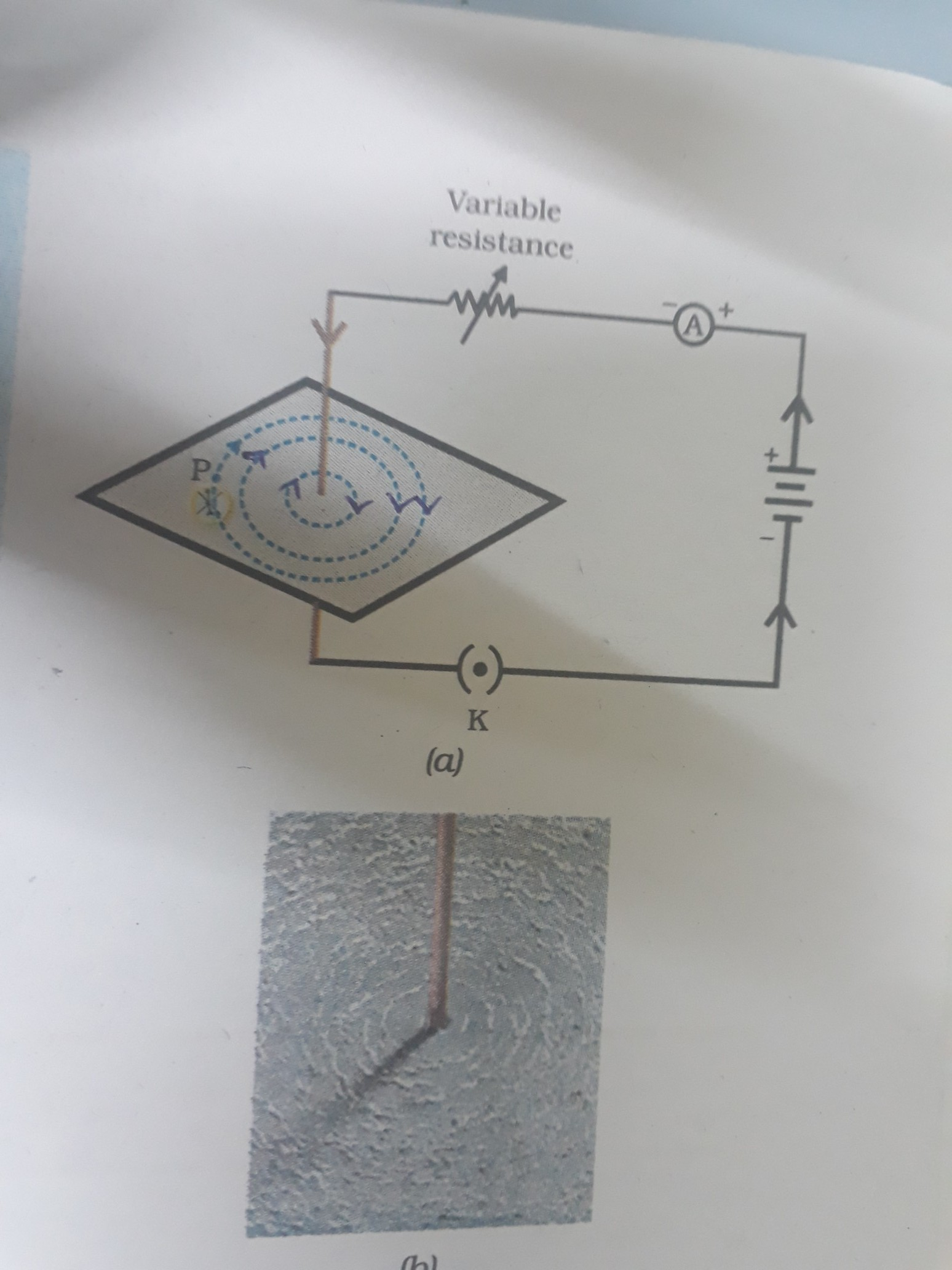 draw the pattern of magnetic field lines around a current carrying ...
