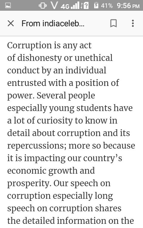 SHORT SPEECH ON CORRUPTION EPUB DOWNLOAD