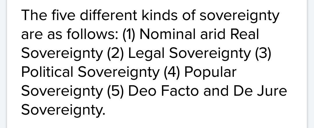 legal sovereignty