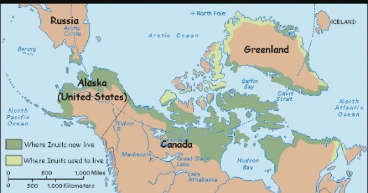 Live Map Of The World.Where Do Eskimos Live Locate It In World Map Brainly In