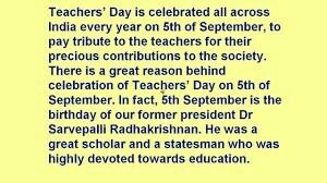 report on teachers day