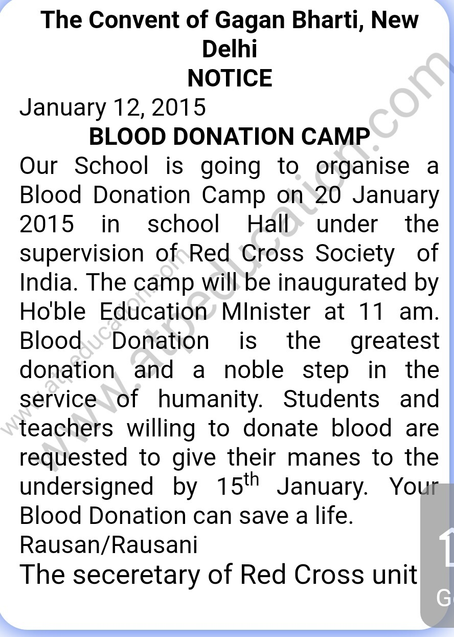 Report writing service blood donation camp college