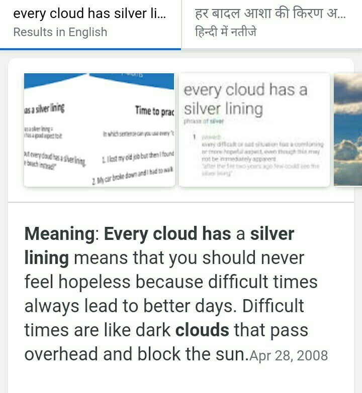 cloud has a silver lining meaning