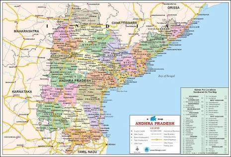 Andhra Pradesh Road Map Road map of telangana and andhra pradesh   Brainly.in Andhra Pradesh Road Map