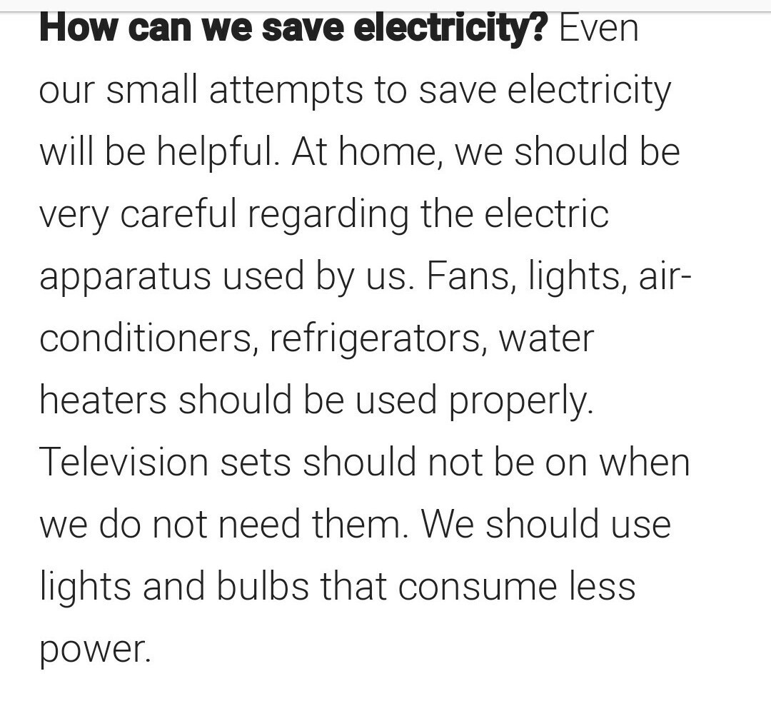 Essay on how to save electricity