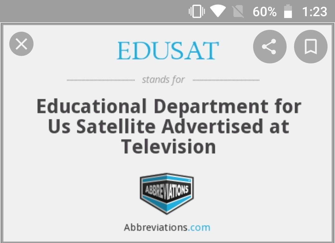 What Is The Full Form Of Edusat Brainly In
