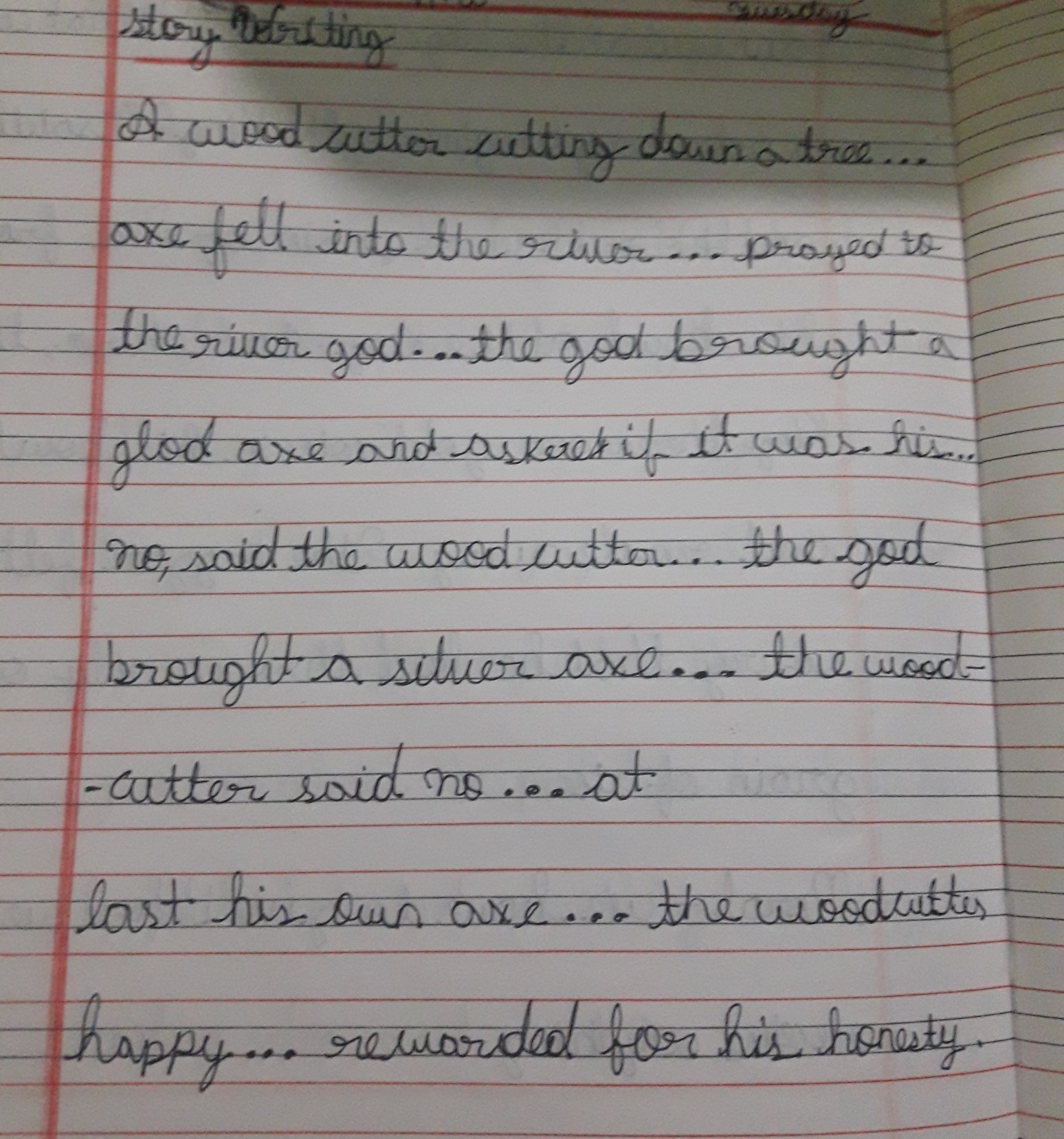 Story writing Complete the story by the given outline :- - Brainly in