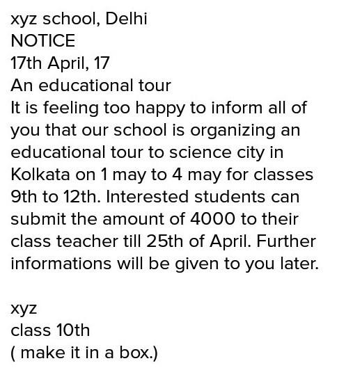 an educational tour