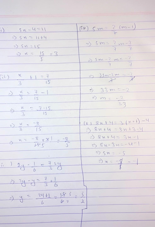 Solvei 5x 4 11 Ii X3 1 715 Iii 2y 16 73 Y Iv