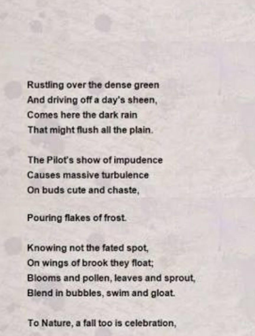 write poem on man vs nature - Brainly.in