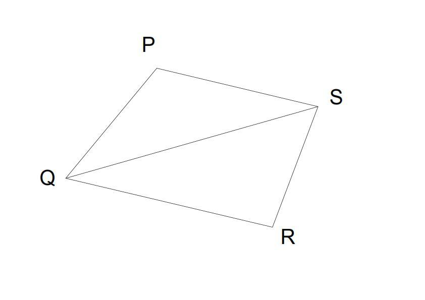 In quadrilateral PQRS, PQ = PS and PR bisects angleP.Show