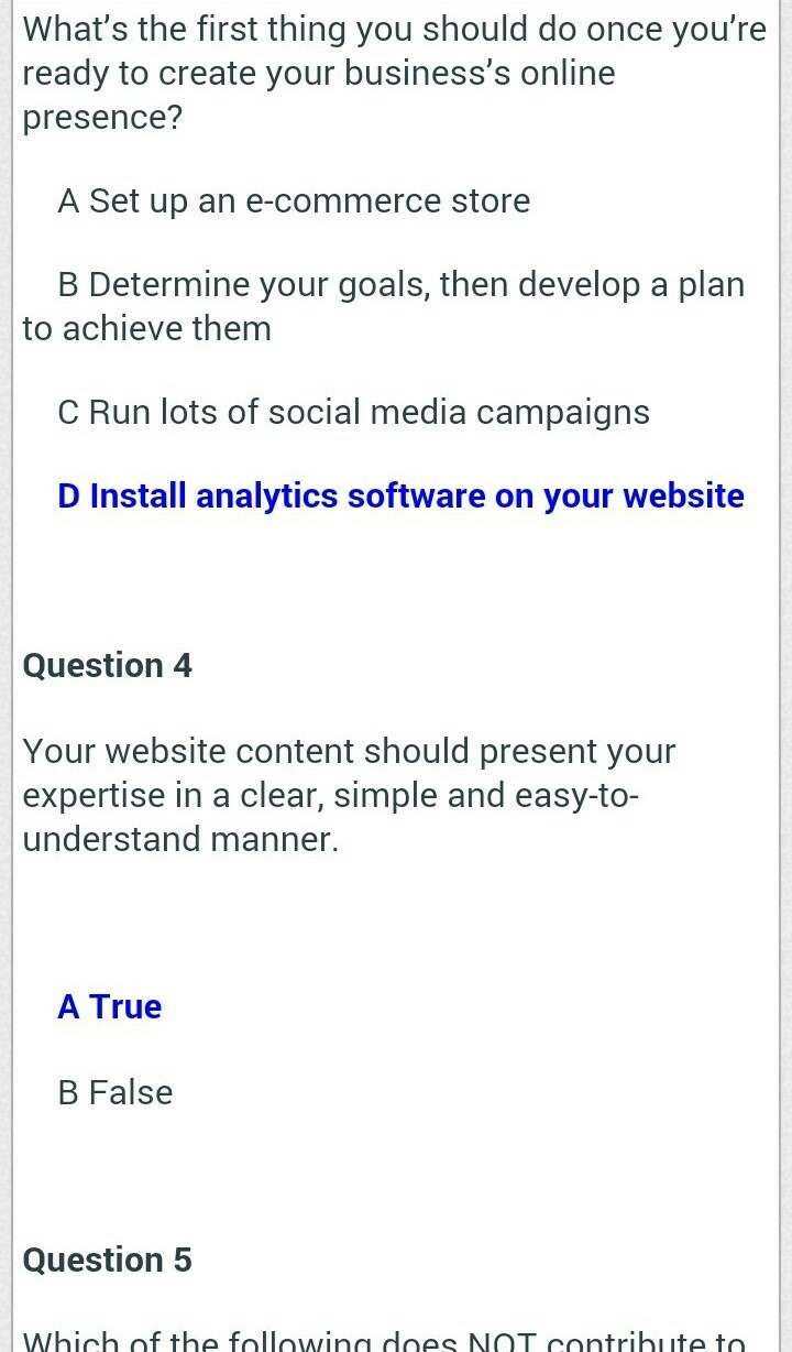 Google digital unlocked lessons answers - Brainly in