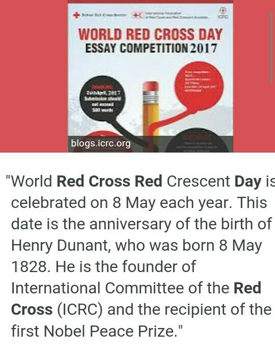 essay on world red cross day