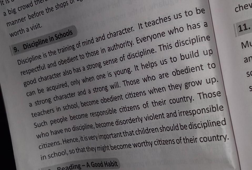 Importance Of Discipline In School Short Essay