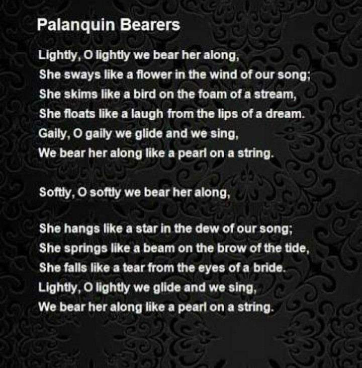 summary of palanquin bearers - Brainly in